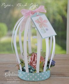 Paper bird cage using Stampin' Up! products