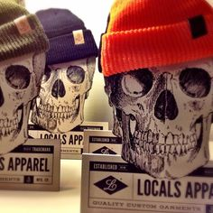 Making beanie displays for the retailers. @HepCat Store @helena_elbastardoclothing @lebeefster @_sweet_poison_ #locals #localsapparel #beanie...