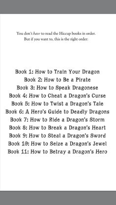 How to Train Your Dragon (HTTYD - Book Series in Order)
