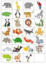 Bingo, Memories, Comics, Games, School, Activities, Wild Animals, Preschool, Animaux