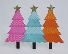 A Doodlebug Christmas Tree Card by Mendi Yoshikawa - Scrapbook.com