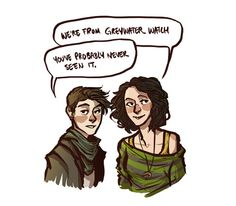 Hipster Jojen and Meera Reed from the A Song of Ice and Fire series