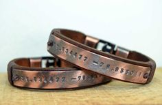 Personalized couple leather braceletMen leather
