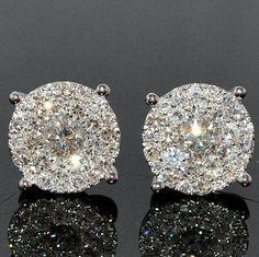 Gorgeous diamond earrings.
