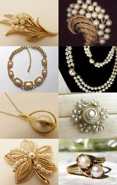 Pearls and Gold by Sally Jones on Etsy--Pinned with TreasuryPin.com