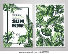 Hello summer time wallpaper fun party background picture art tropical palm leaves background invitation or card design with jungle leaves vector illustration in stopboris Choice Image