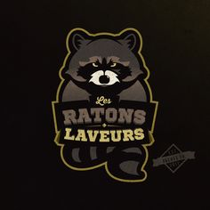 The angry raccoon, American sports style by macadam