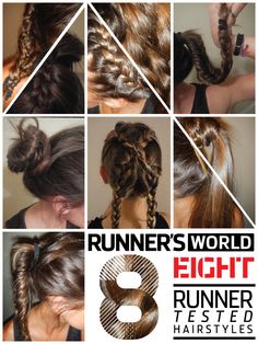 8 Runner Tested Hair Styles for working out Hair Dos, My Hair, Curly Hair, Hair Inspo, Hair Inspiration, About Hair, Yoga, Pretty Hairstyles, Hair And Nails
