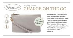 Mighty Purse --- the purse that charges your smartphone one the go ---  Brandnew @ www.stylewerk.ch