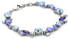 "Sorrelli ""Electric Blue"" Classic Crystal Silver-Tone Bracelet Sorrelli. $85.00. To keep your jewelry looking its best, clean it periodically with a mild soap and water. A polishing cloth will keep the metal from oxidizing over time.  Store in a dry place. Made in China. Sorrelli jewelry is hand crafted from genuine semi-precious stones and high quality Austrian crystals. The Sorrelli vision, to create beautiful jewelry and bring enjoyment to those who wear it, continues today"