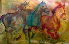 """Horses"" by Fani Hason  For when the Muses attack you! #Muse #artist #writer #AlaindeBotton #EssaysonLove #ideas"