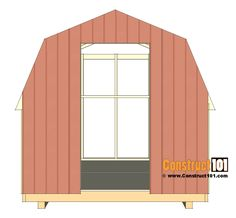 shed plans - small barn - cut front wall siding. 12x8 Shed, Wood Shed Kits, Shed Construction, Clutter Solutions, Build Your Own Shed, Small Barns, Diy Shed Plans, Barns Sheds, Tiny Cabins