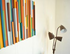 Wall art from wood scraps. *Looks for wood scraps*