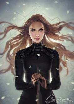 That is Aelin Galathineous my friends  This is actually Feyre from Sarah's other series, A court of thorns and roses, it's posted on Charlie Bowater's (the artist)  Instagram
