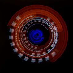 """Photonenrotor #46 - Moving lights in the darkness. Single exposure Light Art Photography, no Photoshop, no tricks. Worked with LED LENSER M3R. Unser nächster Workshop für Einsteiger findet am 21. Mai in Berlin statt.  <a href=""""http://www.lichtkunstfoto.de/workshops"""">www.lichtkunstfoto.de/workshops</a>  <a href=""""https://www.facebook.com/Lichtkunstfoto"""">www.facebook.com/Lichtkunstfoto</a>"""