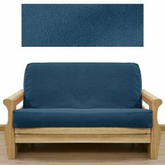 Ultra Suede Indigo Blue Futon Cover Full 641 By Slipcover Save 43 Off