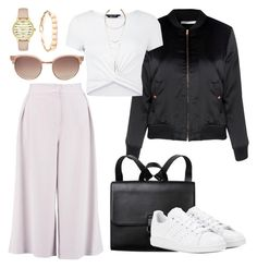 """""""Hold the door; while I let myself in"""" by falonstarrider on Polyvore featuring Glamorous, New Look, LULUS, Linda Farrow, Kate Spade, Monki, adidas, outfit, ootd and LOTD"""