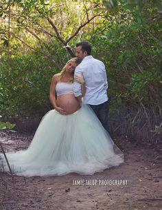 Maternity Session. Woods. Tutu Skirt. Couple Maternity Session.