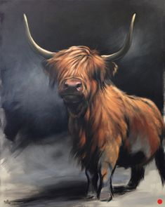 Available Paintings — Aimée Rolin Hoover Highland Cow Painting, Highland Cow Art, Scottish Highland Cow, Highland Cattle, Highland Cow Tattoo, Highland Cow Canvas, Oil Painting Pictures, Pictures To Paint, Animal Paintings