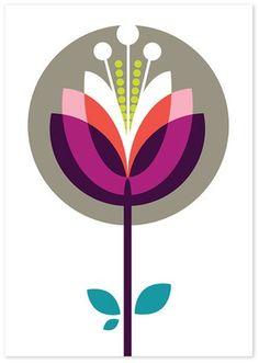 Graphic Retro lotus flower More Pattern Art, Print Patterns, Pattern Design, Japan Design, Ode An Die Freude, Palette Pastel, Lagom Design, Illustration Blume, Scandinavian Folk Art