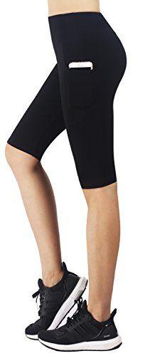 Zinmore Women/'s Running Cycling Shorts Exercise Workout Yoga Shorts Half Pants M