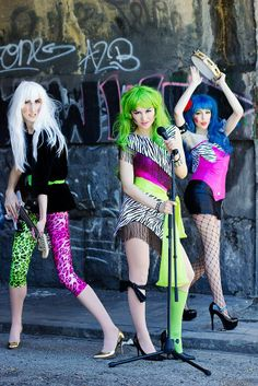 The Misfits from Jem Cosplayers: Pizzazz made & worn by [m o s t f l o g g e d] Roxy made & worn by TATTO Stormer made & worn by Tsunshine Cosplay Photography by ThisCoolIRL Source: [M o s t f l o g g e d] via Facebook