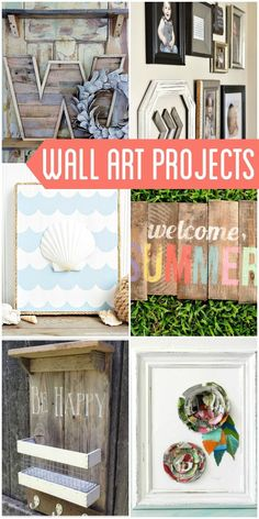 A roundup of DIY wall art projects that will definitely inspire you for your own wall art!! DIY Wall Art Ideas
