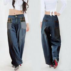 Brand New 1 Piece Ultra Wide Leg Pants Trousers Water Wash Retro Finishing Jeans Denim Bloomers - http://www.freshinstyle.com/products/brand-new-1-piece-ultra-wide-leg-pants-trousers-water-wash-retro-finishing-jeans-denim-bloomers/