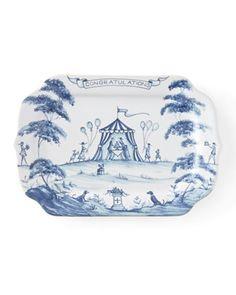 "Country Estate Delft Blue ""Congratulations"" Gift Tray by Juliska at Bergdorf Goodman."