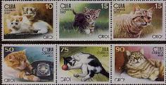 Postage Stamps - Cuba 2007 Domestic Cats (6) UM
