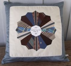 Grandpa's ties pillow! I love this idea -- and it would be a perfect Father's Day gift, too!