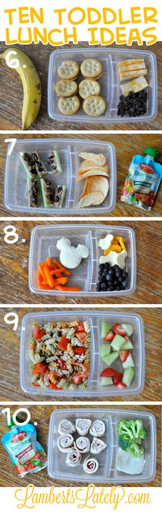 Ten (Quick and Easy) Toddler lunch Ideas                                                                                                                                                                                 More