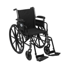 Drive k318adda-sf Cruiser III Light Weight Wheelchair with Flip Back Removable Arms, Adjustable Height Desk Arms, Swing away Footrests, 18""