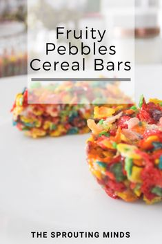 Fruity Pebbles Cereal Bars - The Sprouting Minds Breakfast Bars, Breakfast For Kids, Breakfast Recipes, Best Dessert Recipes, Sweet Recipes, Fun Desserts, Cereal Bars, Cereal Treats, Fruity Pebbles Cereal