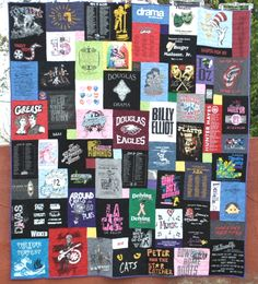 """Drama"" quilt made by Too Cool T-shirt Quilts in Clearwater Florida"