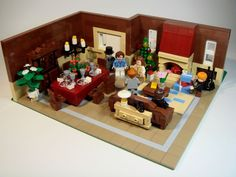Lego family Christmas dinner