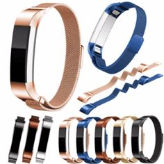 Magnetic Milanese Stainless Steel Mesh Watch Band Bracelet Strap For Fitbit Alta in Jewelry & Watches, Watches, Parts & Accessories, Wristwatch Bands Stainless Steel Mesh, Stainless Steel Bracelet, Mesh Bracelet, Bracelet Watch, Black And Gold Watch, Black Gold, Metal Watch Bands, Fitbit Alta, Sport Watches