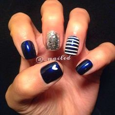 Looking for new nail art ideas for your short nails recently? These are awesome designs you can realistically accomplish–or at least ideas you can modify for your own nails! Get Nails, Fancy Nails, Love Nails, How To Do Nails, Pretty Nails, Essie, Acryl Nails, Nails Polish, Creative Nails