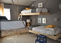 Nice and Cool Bedroom Ideas for Guys Design Character : Rustic Bedroom Decorating Pine Bunk Cool Bedroom Ideas For Guys