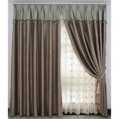 Casual Embossed Blackout Curtains (Two Panels) – US$ 59.99