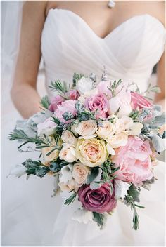 Winter wedding bouquet. Love these colors! by Nicole Colwell Photography