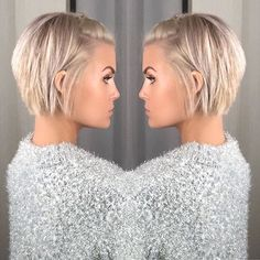 Krissa Fowles short blonde hair - Makeup İdeas For Wedding Popular Short Hairstyles, Short Bob Hairstyles, Hairstyles 2018, Layered Haircuts, Celebrity Hairstyles, Easy Hairstyles, Short Hair Cuts, Short Hair Styles, Side Bangs Hairstyles