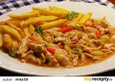 Majonézové kuřecí nudličky recept - TopRecepty.cz Spicy Recipes, Indian Food Recipes, Chicken Recipes, Cooking Recipes, Ethnic Recipes, Traditional Indian Food, Lentil Dishes, Cooking For Beginners, Indian Dishes