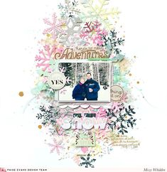 Winter Layout by Missy Whidden | Paige Taylor Evans