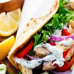 Easy to make chicken gyros that only take minutes to throw into the slow cooker!  They are light and delicious and packed with amazing greek flavor! I have been all about my slow cooker lately.  I am pretty obsessed with it anyway.  I have like 8 of them but I love it even more after the …