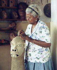 Ana das Carrancas, Carrancas, cerâmica. Arcevo do Centro de Artes Ana das Carrancas, Petrolina-PE.