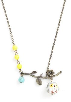 Owl-Out Fun Necklace, #ModCloth