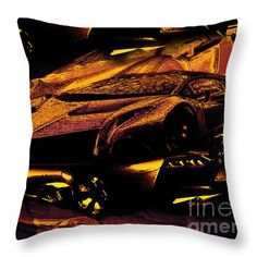 Bull In Flames Throw Pillow - customize yours!