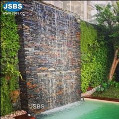 Most popular small backyard landscaping ideas with pool - Installing a pool will enhance your backyards look Backyard Pool Designs, Small Backyard Landscaping, Swimming Pool Designs, Landscaping Ideas, Backyard Ideas, Garden Ideas, Garden Waterfall, Pool Waterfall, Pool Water Features