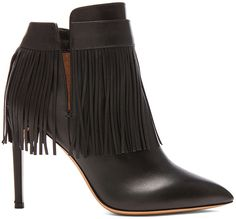 Valentino Rockee Fringe Leather Ankle Boots, Fringe, Fashion, Designer, Fringed Fashion, h-a-l-e.com